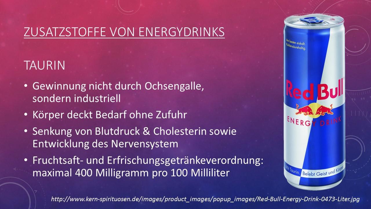 Red Bull Inhaltsstoffe Taurin