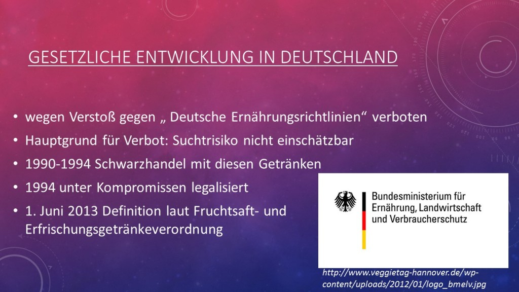 Gesetzliche Entwicklung in Deutschland