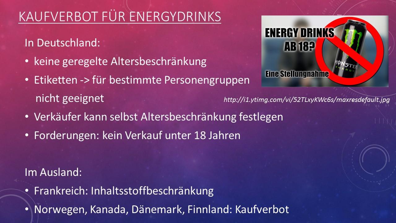 Die Frage der Altersbeschränkung – Energydrinks